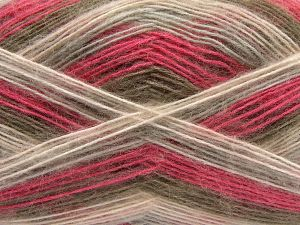 Fiber Content 50% Acrylic, 32% Wool, 18% Angora, Pink Shades, Light Grey, Brand Ice Yarns, Camel, fnt2-68346