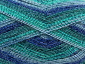 Fiber Content 50% Acrylic, 32% Wool, 18% Angora, Brand Ice Yarns, Green Shades, Blue Shades, fnt2-68348
