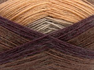 Fiber Content 50% Acrylic, 32% Wool, 18% Angora, Maroon, Brand Ice Yarns, Gold, Brown, Beige, fnt2-68351