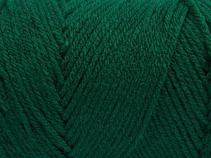 Items made with this yarn are machine washable & dryable. Fiber Content 100% Dralon Acrylic, Brand Ice Yarns, Dark Green, fnt2-68363