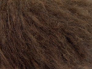 Fiber Content 45% Acrylic, 25% Wool, 20% Mohair, 10% Polyamide, Brand Ice Yarns, Coffee Brown, fnt2-68379