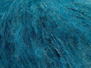 Fiber Content 45% Acrylic, 25% Wool, 20% Mohair, 10% Polyamide, Turquoise, Brand Ice Yarns, fnt2-68384