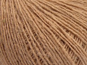 Fiber Content 95% Acrylic, 5% Elastan, Brand Ice Yarns, Dark Beige, fnt2-68385