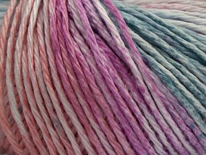 Fiber Content 100% Cotton, White, Water Green, Pink, Light Salmon, Brand Ice Yarns, fnt2-68411