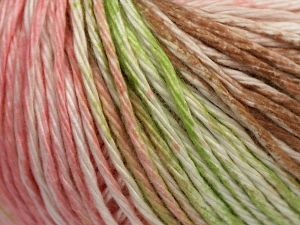 İçerik 100% Pamuk, White, Pink Shades, Light Green, Brand Ice Yarns, Brown, fnt2-68420
