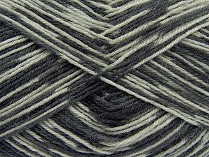Fiber Content 75% Superwash Wool, 25% Polyamide, Brand Ice Yarns, Grey Shades, fnt2-68425