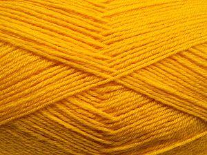 Fiber Content 60% Merino Wool, 40% Acrylic, Yellow, Brand Ice Yarns, fnt2-68437