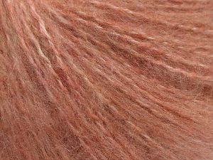 Fiber Content 65% Acrylic, 15% Nylon, 10% Mohair, 10% Wool, Pink, Brand Ice Yarns, fnt2-68453
