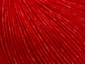 Fiber Content 66% Merino Wool, 34% Organic Cotton, Red, Brand Ice Yarns, fnt2-68462