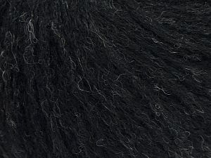 Fiber Content 36% Polyamide, 31% Extrafine Merino Wool, 30% Baby Alpaca, 3% Elastan, Brand Ice Yarns, Black, fnt2-68468