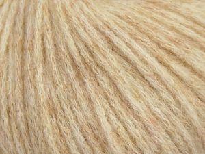 Fiber Content 36% Polyamide, 31% Extrafine Merino Wool, 30% Baby Alpaca, 3% Elastan, Brand Ice Yarns, Cream melange, fnt2-68470