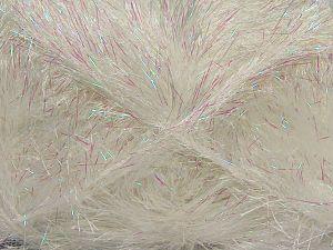 Metallic part of this yarn is iridescent Fiber Content 75% Polyester, 25% Iridescent Lurex, White, Iridescent, Brand Ice Yarns, fnt2-68493