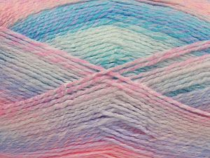 Fiber Content 100% Acrylic, White, Pink, Lilac, Brand Ice Yarns, Blue, fnt2-68495