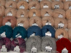 Kan Mohair Yarns In this list; you see most recent 50 mixed lots. <br> To see all <a href=&/mixed_lots/o/4#list&>CLICK HERE</a> (Old ones have much better deals)<hr> Fiber Content 45% Acrylic, 25% Wool, 20% Mohair, 10% Polyamide, Brand Ice Yarns, fnt2-68549
