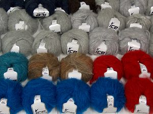 Kan Mohair Yarns In this list; you see most recent 50 mixed lots. <br> To see all <a href=&/mixed_lots/o/4#list&>CLICK HERE</a> (Old ones have much better deals)<hr> Fiber Content 45% Acrylic, 25% Wool, 20% Mohair, 10% Polyamide, Brand Ice Yarns, fnt2-68550