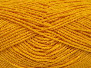 Fiber Content 60% Merino Wool, 40% Acrylic, Yellow, Brand Ice Yarns, fnt2-68572