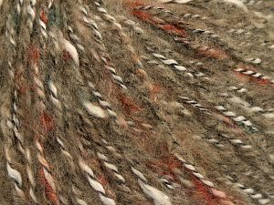 Fiber Content 40% Acrylic, 25% Cotton, 25% Wool, 10% Nylon, Brand Ice Yarns, Cream, Copper, Brown Shades, fnt2-68585