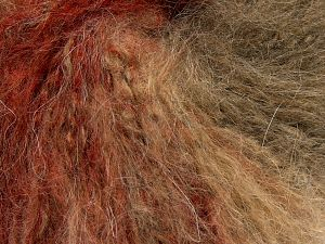 Fiber Content 75% Acrylic, 13% Mohair, 12% Polyester, Red, Brand Ice Yarns, Brown Shades, fnt2-68589