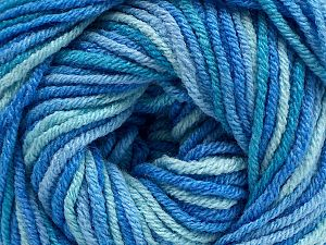 Fiber Content 55% Cotton, 45% Acrylic, Brand Ice Yarns, Blue Shades, fnt2-68617