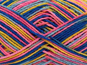 Fiber Content 100% Acrylic, Yellow, White, Salmon, Orange, Brand Ice Yarns, Blue Shades, fnt2-68633