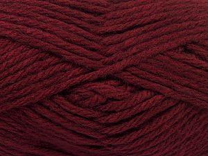 Fiber Content 50% Acrylic, 25% Alpaca Superfine, 25% OrganicMerino Wool, Brand Ice Yarns, Dark Burgundy, fnt2-68701