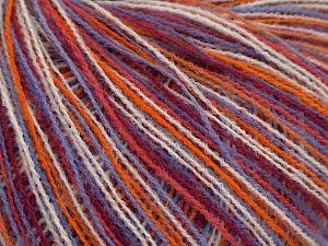 İçerik 100% Akrilik, White, Pink Shades, Orange, Lilac, Brand Ice Yarns, fnt2-68771