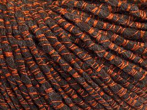 Fiber Content 50% Acrylic, 20% Wool, 15% Viscose, 15% Alpaca, Brand Ice Yarns, Dark Brown, fnt2-68810