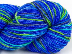 Please note that this is a hand-dyed yarn. Colors in different lots may vary because of the charateristics of the yarn. Also see the package photos for the colorway in full; as skein photos may not show all colors. Fiber Content 75% Superwash Merino Wool, 25% Polyamide, Purple, Brand Ice Yarns, Green, Blue, fnt2-68862