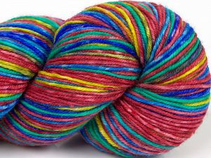 Please note that this is a hand-dyed yarn. Colors in different lots may vary because of the charateristics of the yarn. Also see the package photos for the colorway in full; as skein photos may not show all colors. Fiber Content 75% Superwash Merino Wool, 25% Polyamide, Yellow, Orchid, Brand Ice Yarns, Green, Blue, fnt2-68864