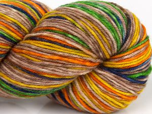 Please note that this is a hand-dyed yarn. Colors in different lots may vary because of the charateristics of the yarn. Also see the package photos for the colorway in full; as skein photos may not show all colors. Fiber Content 75% Superwash Merino Wool, 25% Polyamide, Purple, Orange, Brand Ice Yarns, Green, Gold, Camel, fnt2-68870