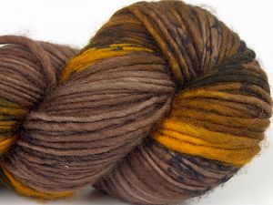 Fiber Content 100% Superwash Merino Wool, Brand Ice Yarns, Gold, Brown Shades, fnt2-68872