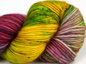 İçerik 100% Superwash Merino Wool, Turquoise, Purple, Brand Ice Yarns, Green, Gold, fnt2-68879