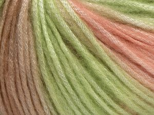 Fiber Content 56% Polyester, 44% Acrylic, Pink, Brand Ice Yarns, Green, Beige, fnt2-68986
