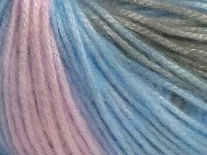 Fiber Content 56% Polyester, 44% Acrylic, Pink, Brand Ice Yarns, Grey, Blue, fnt2-68987