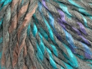 Fiber Content 85% Acrylic, 15% Wool, Turquoise, Lilac, Light Pink, Light Grey, Brand Ice Yarns, fnt2-69006