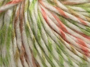 Fiber Content 85% Acrylic, 15% Wool, White, Salmon, Brand Ice Yarns, Green, Camel, fnt2-69010