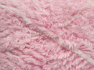 Fiber Content 100% Micro Fiber, White, Light Pink, Brand Ice Yarns, fnt2-69128