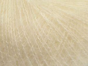 Fiber Content 47% SuperKid Mohair, 31% Superwash Extrafine Merino Wool, 22% Polyamide, Brand Ice Yarns, Cream, fnt2-69134