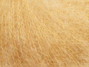 Fiber Content 47% SuperKid Mohair, 31% Superwash Extrafine Merino Wool, 22% Polyamide, Milky Brown, Brand Ice Yarns, fnt2-69136