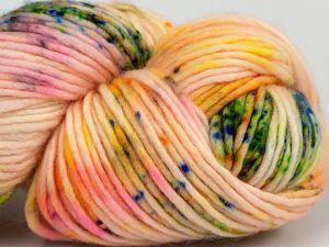 Fiber Content 100% Superwash Merino Wool, Rainbow, Brand Ice Yarns, Cream, fnt2-69220