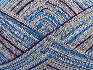 Fiber Content 60% Viscose, 30% Acrylic, 10% Cashmere, White, Purple, Lilac, Brand Ice Yarns, Grey, Blue, fnt2-69326