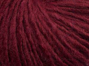 Fiber Content 50% Merino Wool, 25% Alpaca, 25% Acrylic, Brand Ice Yarns, Dark Burgundy, fnt2-69358