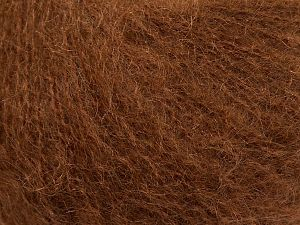 Fiber Content 47% SuperKid Mohair, 31% Superwash Extrafine Merino Wool, 22% Polyamide, Brand Ice Yarns, Brown, fnt2-69402