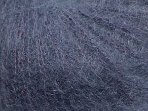 Fiber Content 47% SuperKid Mohair, 31% Superwash Extrafine Merino Wool, 22% Polyamide, Lilac, Brand Ice Yarns, fnt2-69403
