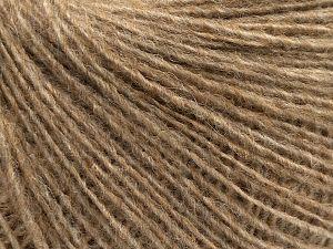 Fiber Content 50% Merino Wool, 25% Alpaca, 25% Acrylic, Light Brown, Brand Ice Yarns, fnt2-69416
