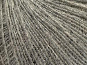 Fiber Content 50% Merino Wool, 25% Alpaca, 25% Acrylic, Light Grey, Brand Ice Yarns, fnt2-69422