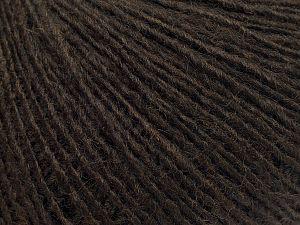 Fiber Content 50% Merino Wool, 25% Alpaca, 25% Acrylic, Brand Ice Yarns, Dark Brown, fnt2-69424