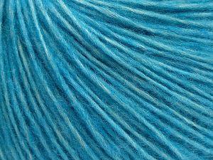 Fiber Content 66% Merino Wool, 34% Organic Cotton, Turquoise, Brand Ice Yarns, fnt2-69448