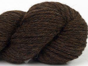 Fiber Content 55% Baby Alpaca, 45% Superwash Extrafine Merino Wool, Brand Ice Yarns, Dark Brown, fnt2-69476