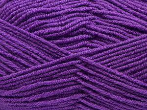 Fiber Content 60% Merino Wool, 40% Acrylic, Purple, Brand Ice Yarns, fnt2-69480